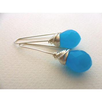 Bead Earrings. Turquoise Blue Dream