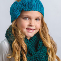 Big Bow Headwraps Teal Blue