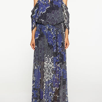 Tarnished Textile Maxi Dress