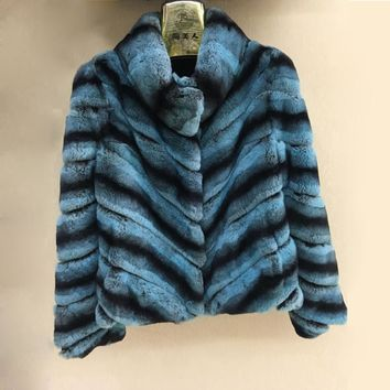 2017 New fashion 100% natural real rex rabbit fur gilet winter high quality women fur vest real fox fur coat A380-025