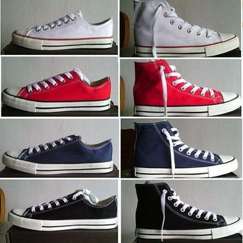 Converse shoes Brand New Unisex Low Style Adult Women's Mens Canvas Shoes Laced Up Cas