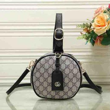 Gucci Fashion Round Type Handbag Zipper Bag Crossbody