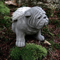 Bulldog Concrete Statue - Bulldog Memorial Angel