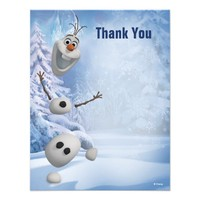 Frozen Olaf Thank You