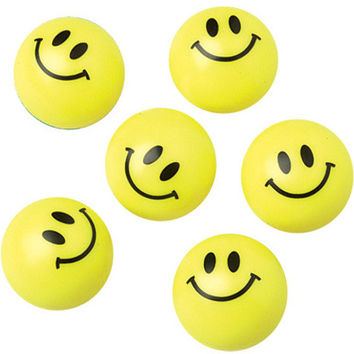 smiley face plastic ball Case of 288