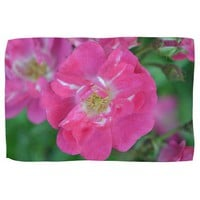 Red Thomas Rose Kitchen Towel