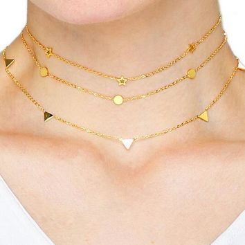 Necklace stainless steel Golden and Sliver chain
