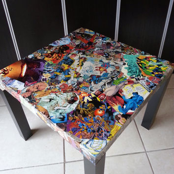 XMEN Comic Collage Table FREE sHIPPING USA