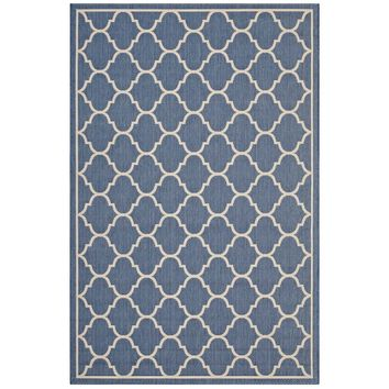 Avena Moroccan Quatrefoil Trellis 5x8 Indoor and Outdoor Area Rug