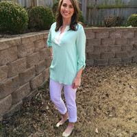 Sunny Day Blouse - 2 Colors Peach Small