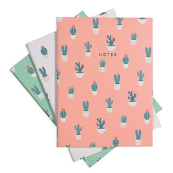 CACTUS LOVER NOTEBOOK 3/SET