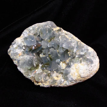 3.5 pound Gorgeous deep blue Celestite with yellow zoning