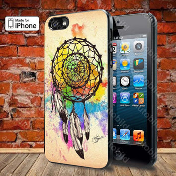 Water color dream catcher Case For iPhone 5, 5S, 5C, 4, 4S and Samsung Galaxy S3, S4