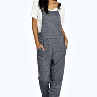 Laura Slub Knitted Dungaree Jumpsuit