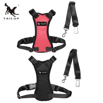 TAILUP  Pet  Adjustable Safety Car Seat  Dogs Harness Chest Straps