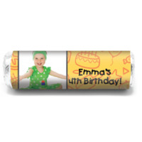 Party Food Personalized Photo Mint Rolls are great thank-yous at parties, birthdays, weddings, for candy favors!
