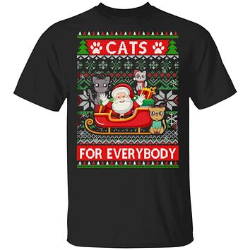 Cats For Everybody Christmas Cute Cat Lover Ugly Sweater