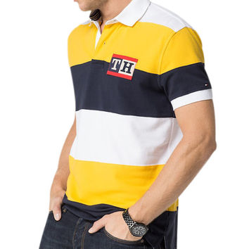 Tommy Hilfiger Broad Stripe TH Rugby Polo