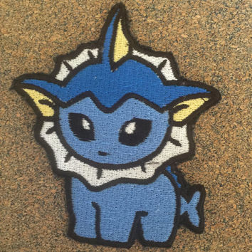 Pokemon Vaporeon Iron on or sew on Patches
