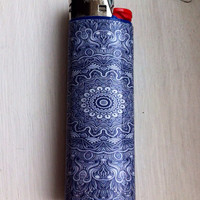 Blue Mandala Custom Lighter