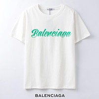 Balenciaga New fashion letter print couple top t-shirt White