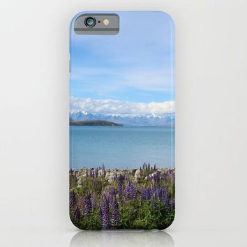 Lake Tekapo - Flower Field iPhone & iPod Case by Paula Oliveira