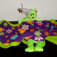 Lil Ty Bear stuffed animal lovey Blanket