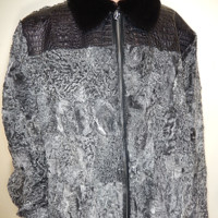 G-Gator Mink x Persian Lamb x Crocodile Fur Coat