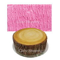 Bark silicone cake mould decorating tools chocolate gumpaste mould