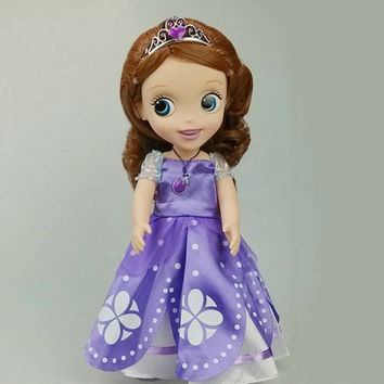 Hot! Original edition 12inch Sofia the First Sofia princess Body doll VINYL boneca accessories action toys For Kids Best Gift