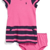Infant Girl's Ralph Lauren Fleece Dress &