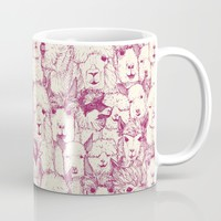 just alpacas cherry pearl Mug by Sharon Turner