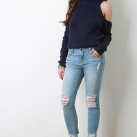 Nella Ripped Skinny Jeans