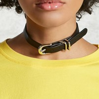 Buckle Faux Leather Choker