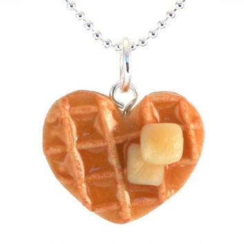 Scented Heart Waffle Necklace