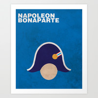 Napoleon Minimalist Poster Art Print by Idle Amusement