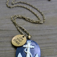 Live Your Dream Anchor Necklace by cynicalredhead on Etsy