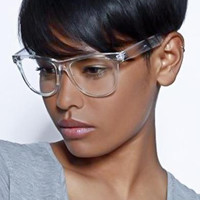 Men's or Women VINTAGE WAYFARER Clear Lens EYE GLASSES Transparent Crystal Frame