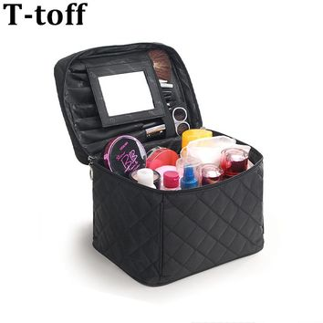2017 Luxury Cosmetic Bag Big Professional Toiletry Bags Travel Makeup Case Beauty Necessaries Make up Storage Beautician Box