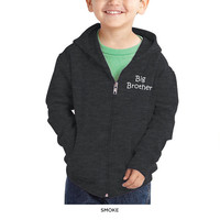Toddlers' Embroidered Big Brother Zip Hoodie - Assorted Colors