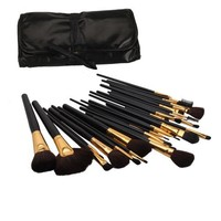 Generic 32 Pcs Professional Cosmetic Makeup Brush Set Kit with Synthetic Leather Case,Black