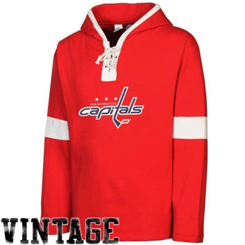 Old Time Hockey Washington Capitals Grant Lace-Up Hoodie - Red