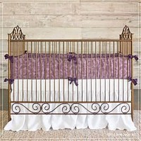 Bratt Decor Casablanca Iron Crib in Venetian Gold