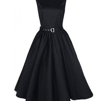 Luouse Vintage 50's Audrey Hepburn Style Swing Party Rockabilly Evening Dress