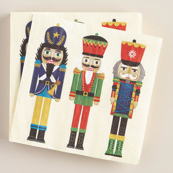 Nutcrackers Beverage Napkins, 16-Count - World Market