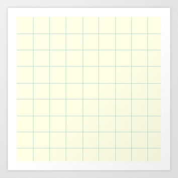 Minimalist Grid Pattern with Space and Lines Art Print by spaceandlines