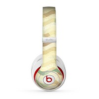 The Green and Yellow Wave Pattern v3 Skin for the Beats by Dre Studio (2013+ Version) Headphones