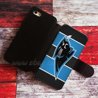 Corolina Panthers Wallet iPhone cases Logo Samsung Wallet Leather Phone Case