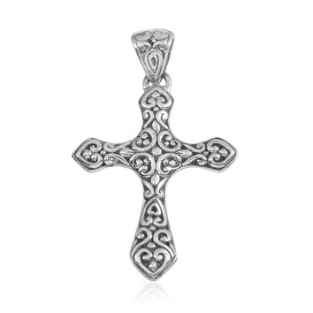 Bali Crafted Cross Pendant Silver
