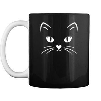Cat Face Black Cat Halloween Costume  Mug